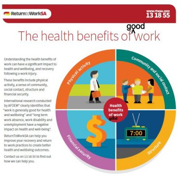 The health benefits of good work handout